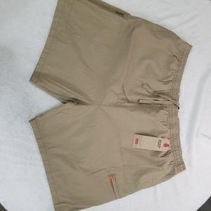 Levi's Mens Walking Shorts Size XXL Khaki Tan Stre